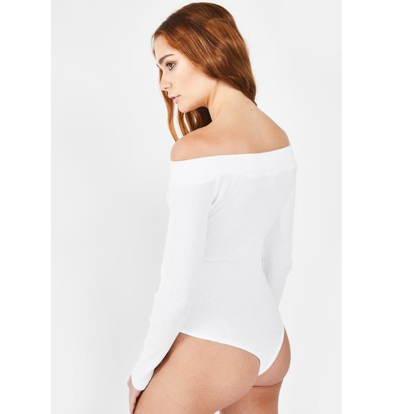 Glamorous Button Up Off The Shoulder Bodysuit