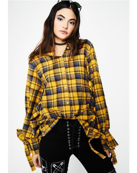 Marigold Plaid Shirt