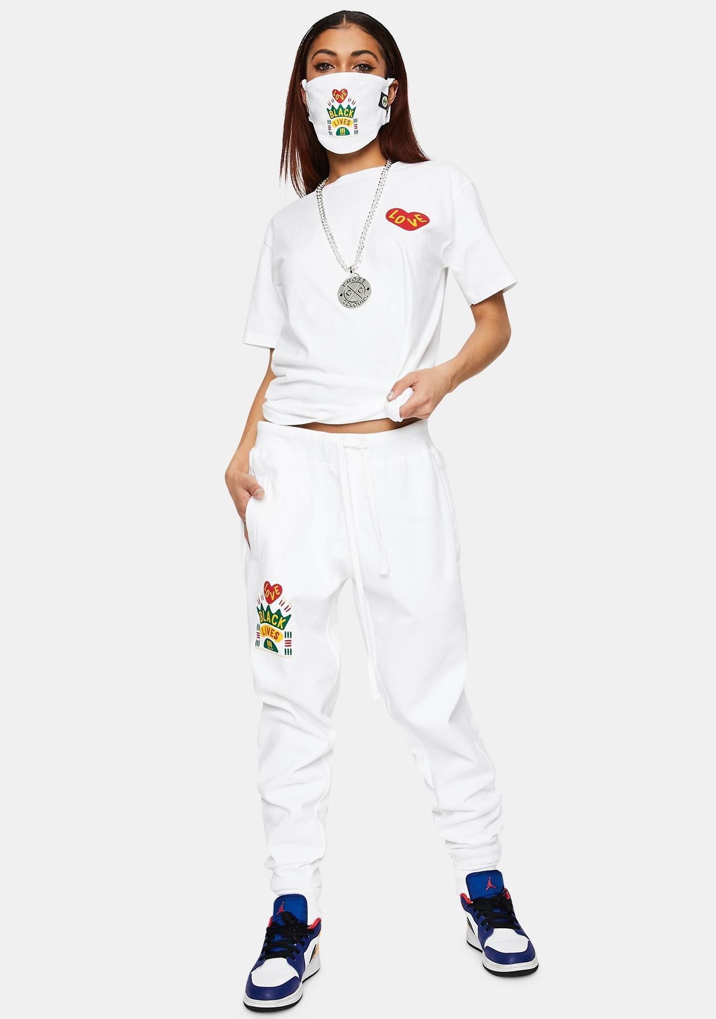 Cross Colours Black Lives Are Loved Graphic Joggers