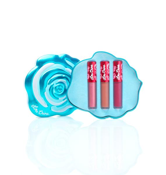 Lime Crime Blue Rose Velvetine Gift Set