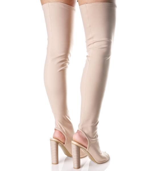 Legend Cut-Out Thigh-High Boots
