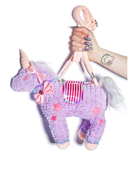 Unicorns Forever Plushie Bag