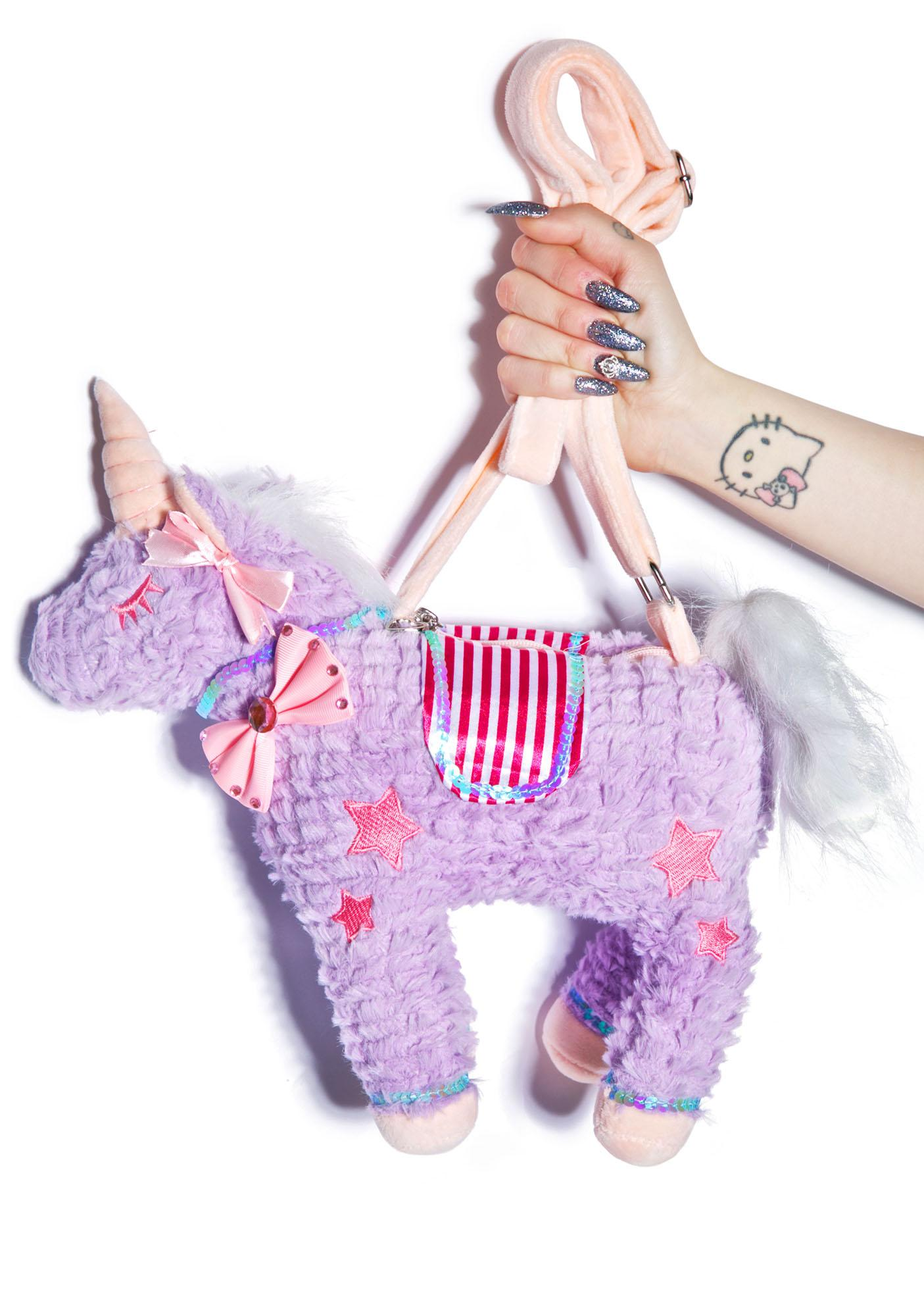 Unicorns Forever Plushie Bag