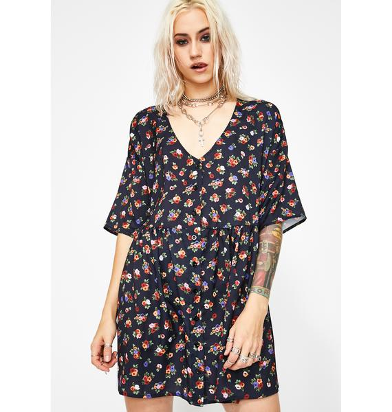 Current Mood Broken Thoughtz Floral Dress