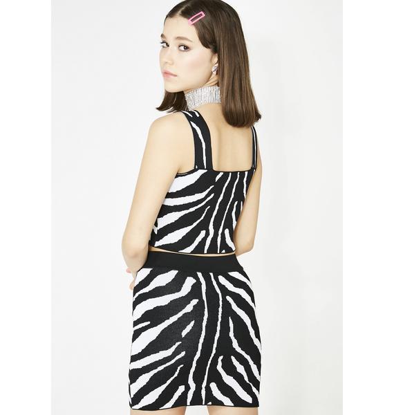 Zebra Diva Skirt Set