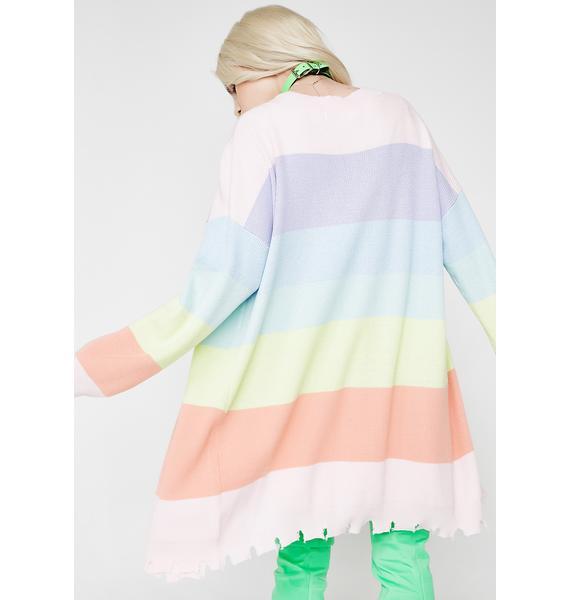 Rainbow Burst Cardigan
