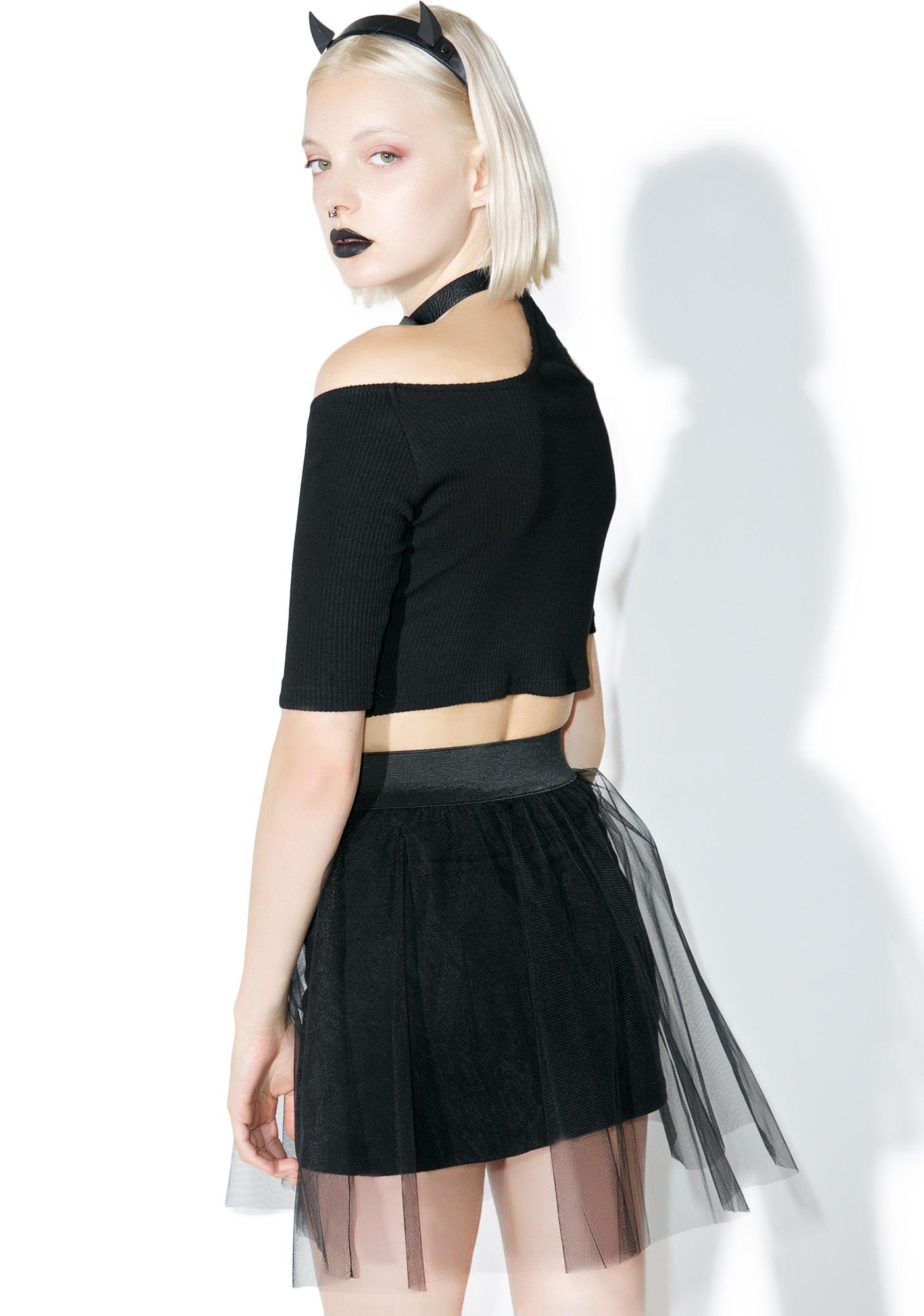 one spo Sheer Logo Skirt