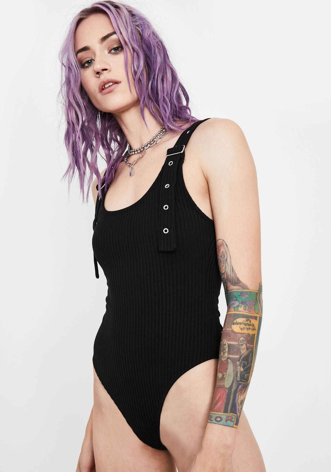 Current Mood Fatal Tragedy Ribbed Bodysuit