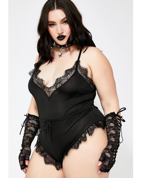 Wicked Sweet Torment Lace Romper