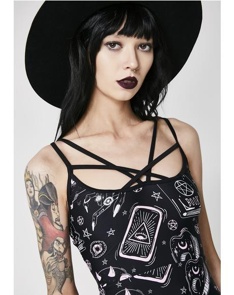 Black Magic Skater Dress