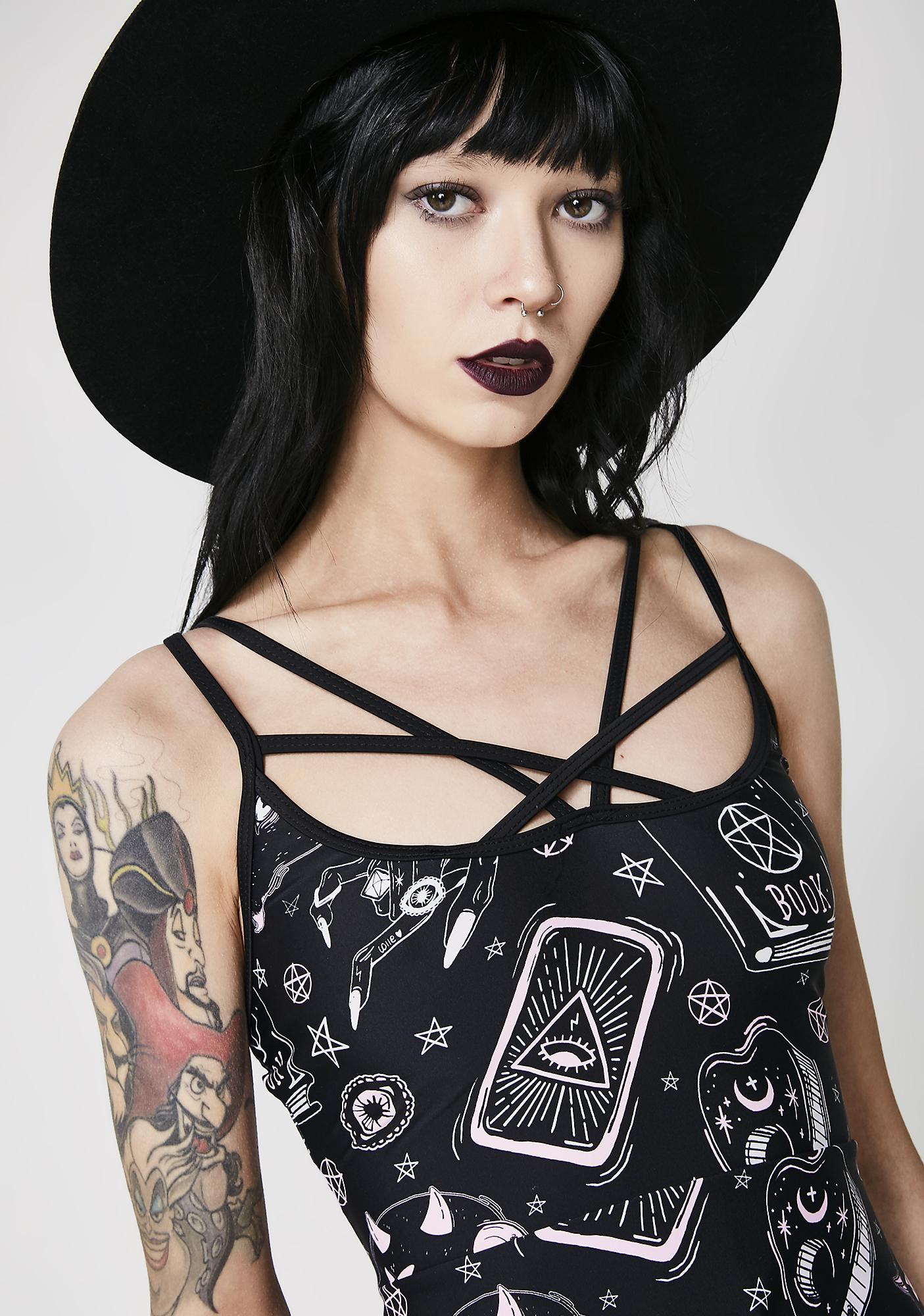 Black Magic Skater Dress