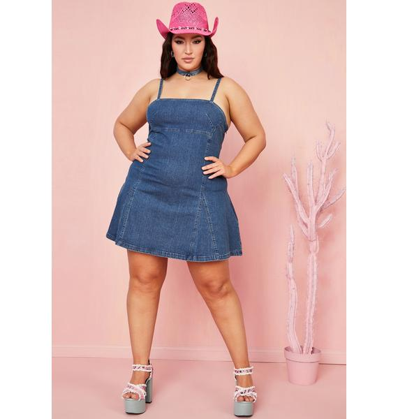 Sugar Thrillz Mz Dime Store Cowgirl Denim Dress