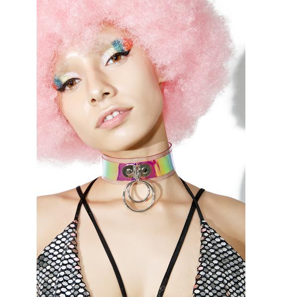 Apatico Trouble Holographic Choker