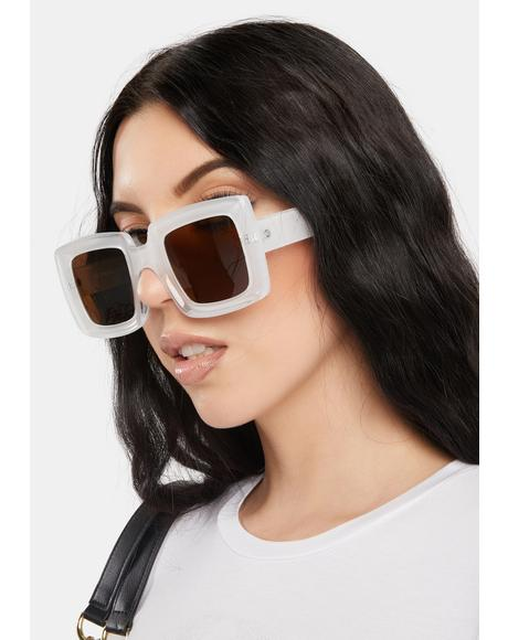 Having A Moment Oversized Sunglasses