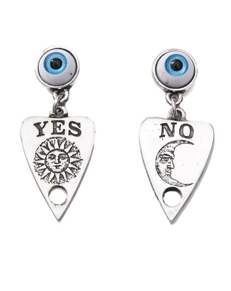 Ouija Planchette Earrings