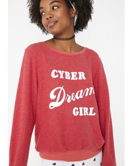 Cyber Dream Girl Baggy Beach Jumper