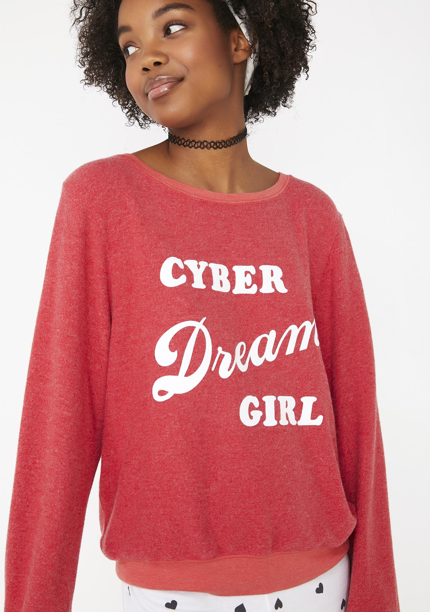 Wildfox Couture Cyber Dream Girl Baggy Beach Jumper