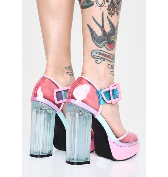 Sugar Thrillz Unicorn Sprinkles PVC Heels
