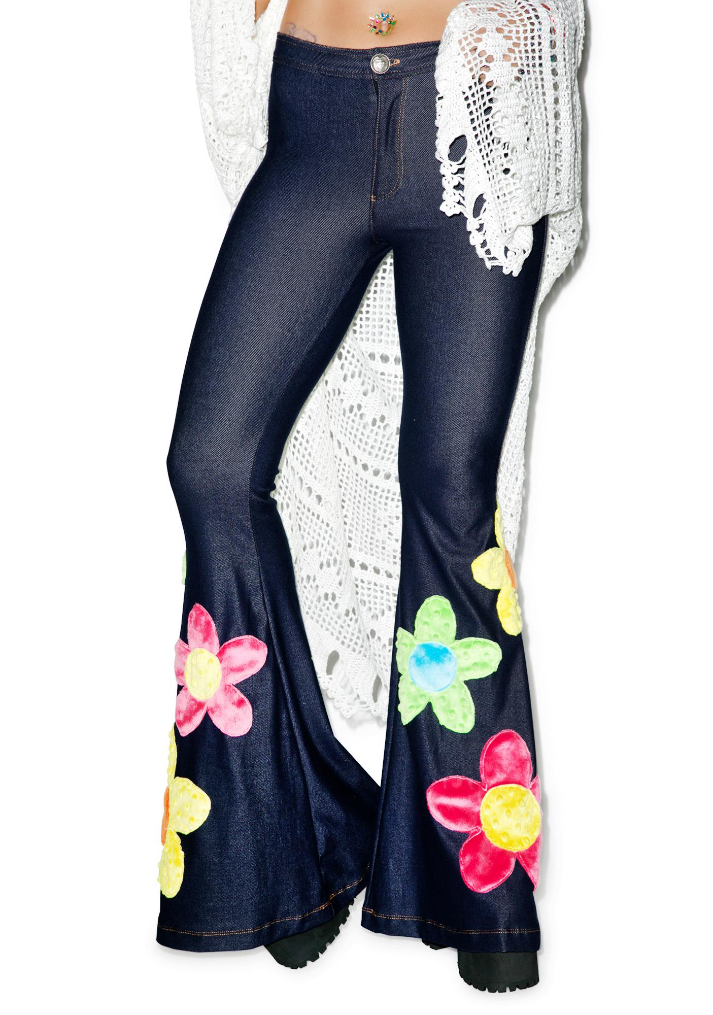 J Valentine Flower Power Bell Bottoms