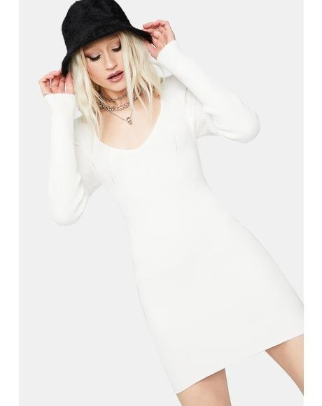 Best Coast Ribbed Knit Mini Dress