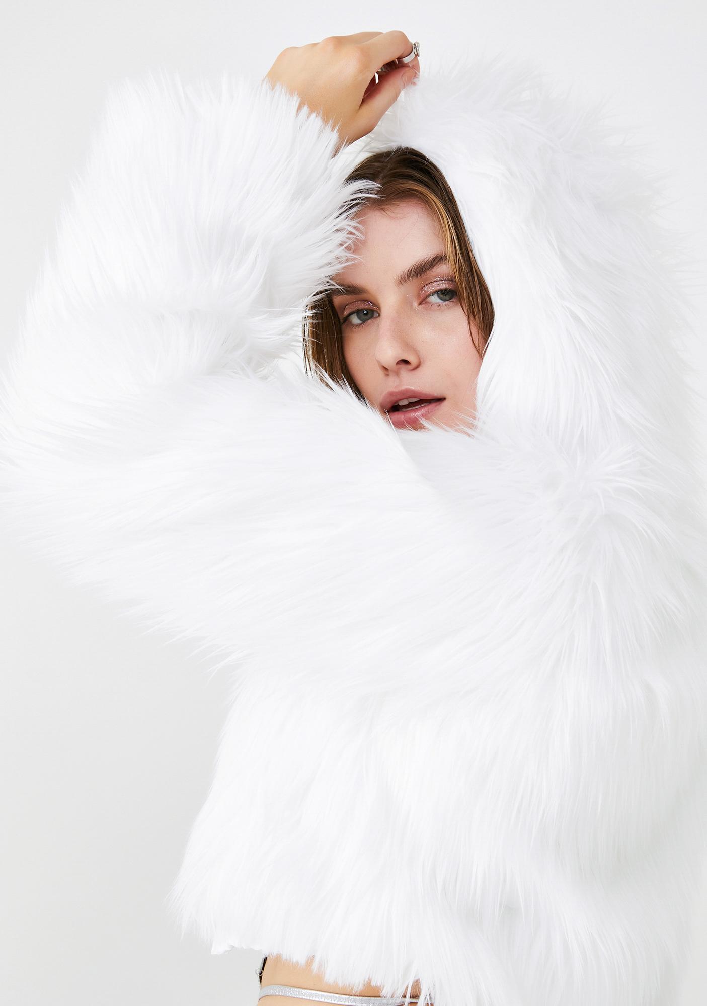 J Valentine Royal Sugar Light Up Faux Fur Jacket