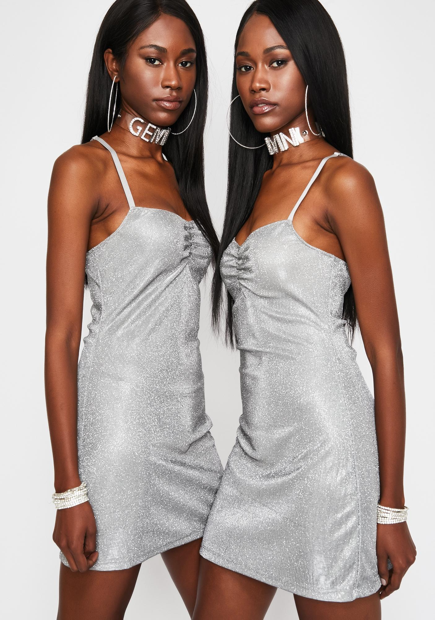 HOROSCOPEZ Mercury Sparkle Mini Dress