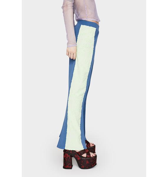 GANGYOUNG Navy Blue Daisy Pants