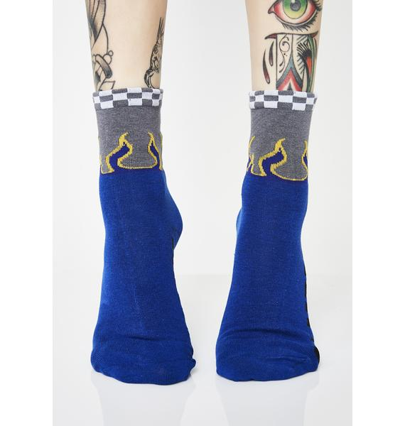 Pit Stop Flame Socks