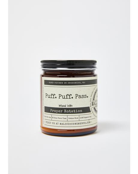 Puff Puff Pass Blueberry Cobbler Candle
