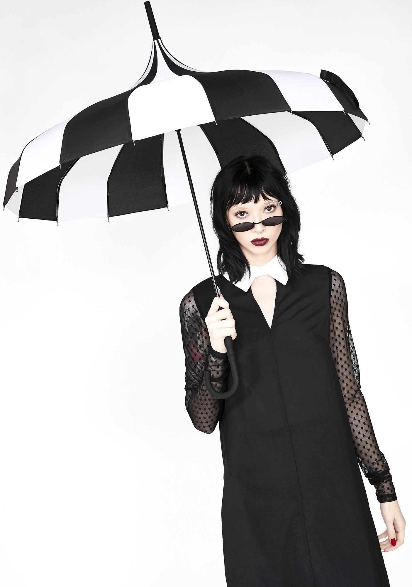 Sourpuss Clothing Striped Pagoda Umbrella