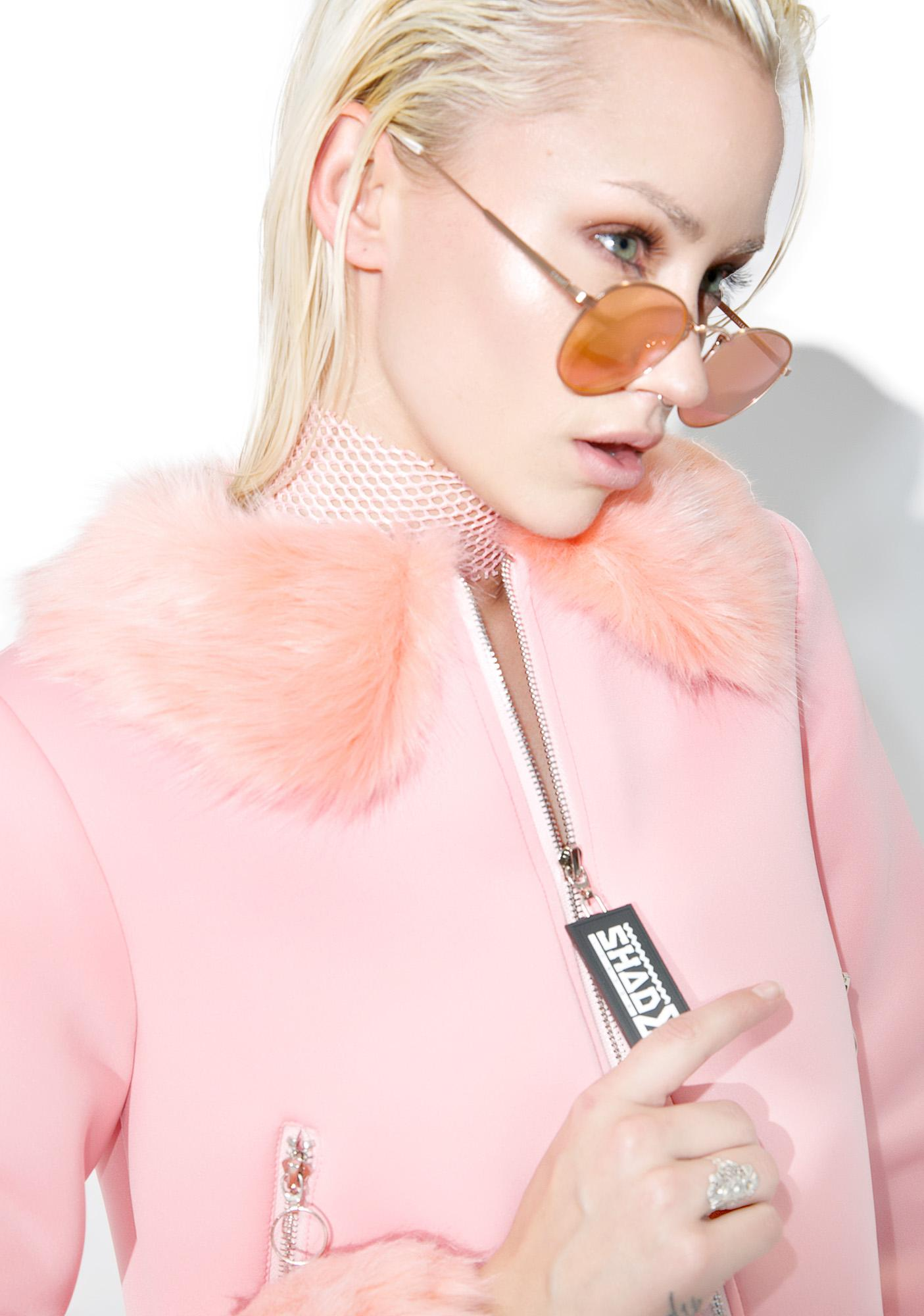 Shade London Faux Fur Trim Jacket