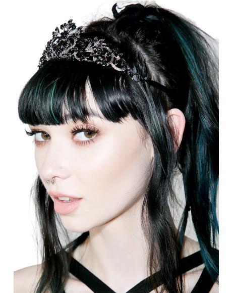 Black Crystal Tiara