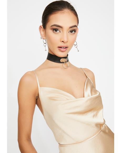 Gold Paiva Mini Dress