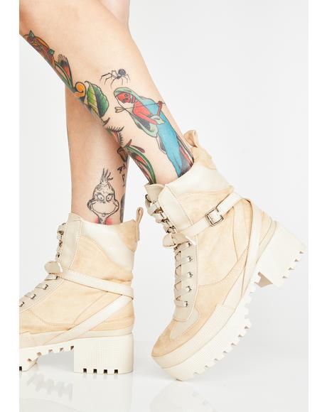 Decline Platform Boots