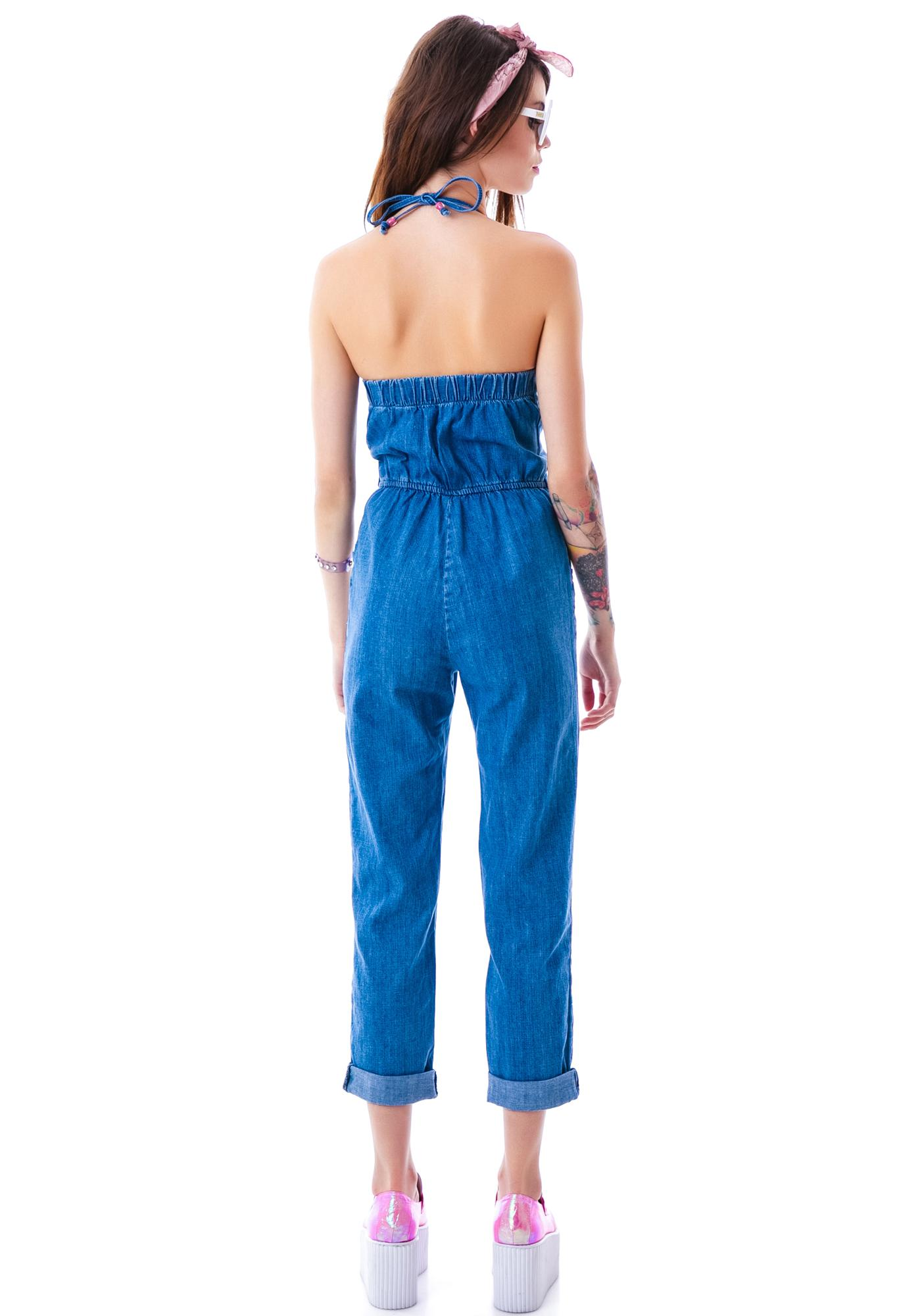 59b9760f6b2c9 ... Wildfox Couture Kiera Daybreak Denim Jumpsuit ...
