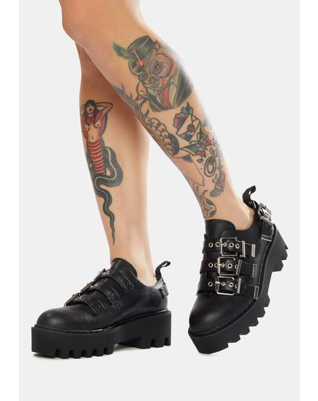 Face It Chunky Buckle Shoes