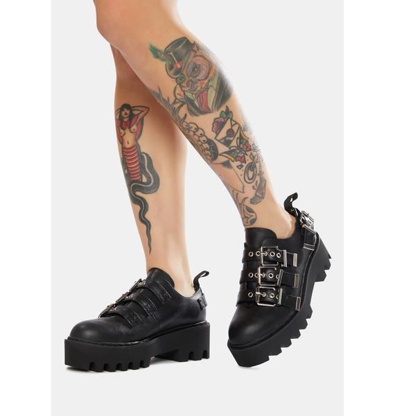Lamoda Face It Chunky Buckle Shoes
