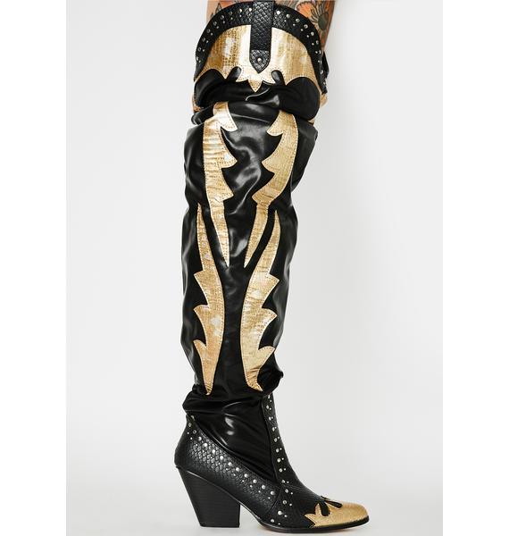 Walkin' On A Dream Knee High Boots