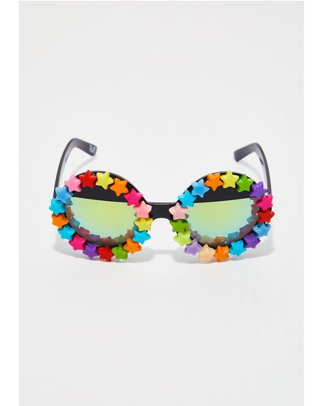 Starry Eyed Round Sunglasses