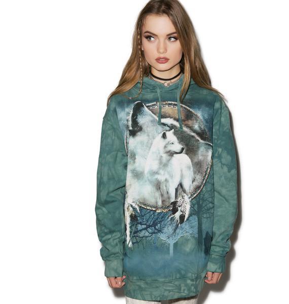 Wolf Spirit Shield Hoodie