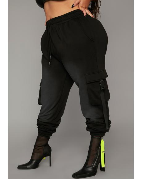 Extreme Attitude Adjustment Washed Cargo Joggers