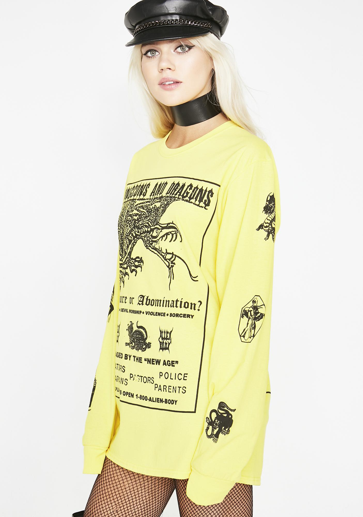 ALIEN BODY Dungeons And Dragons Long Sleeve