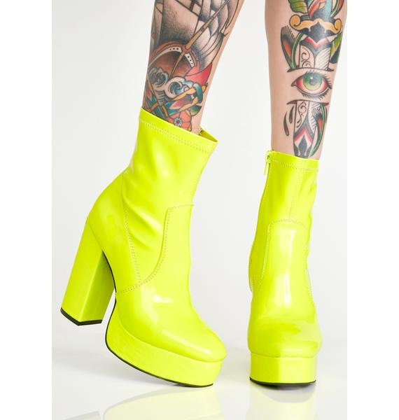 Current Mood Full Force Platform Booties