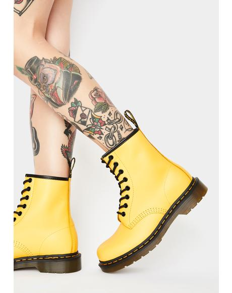 Yellow 1460 Smooth Color Pop Boots