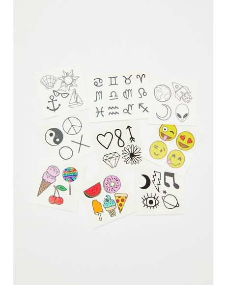 Mini Temporary Tattoo Pack