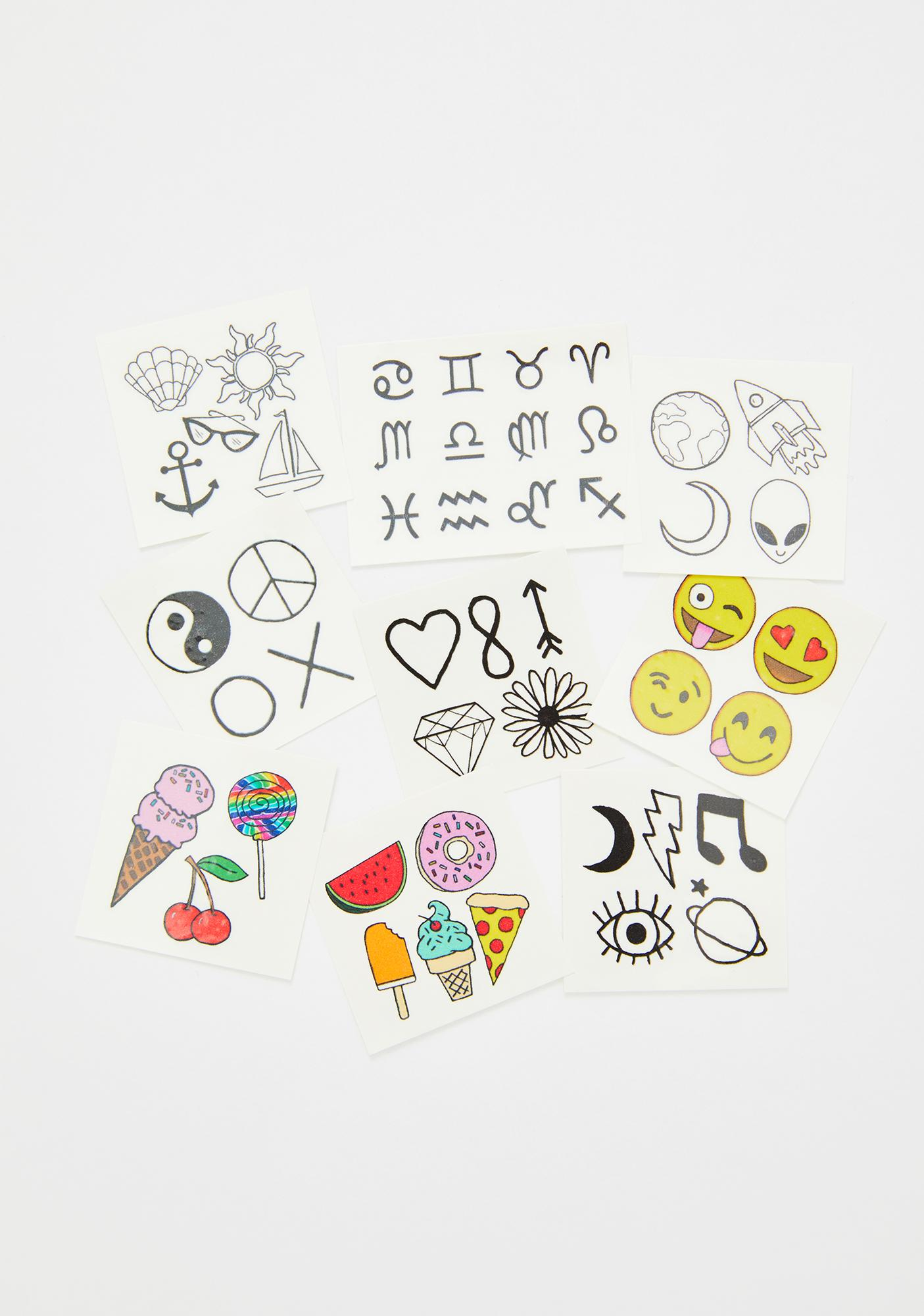 INKED by Dani Mini Temporary Tattoo Pack