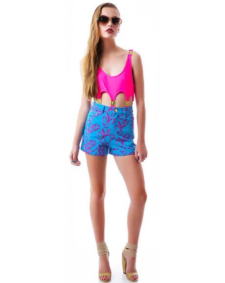 Ghetto Blast High Waist Shorts