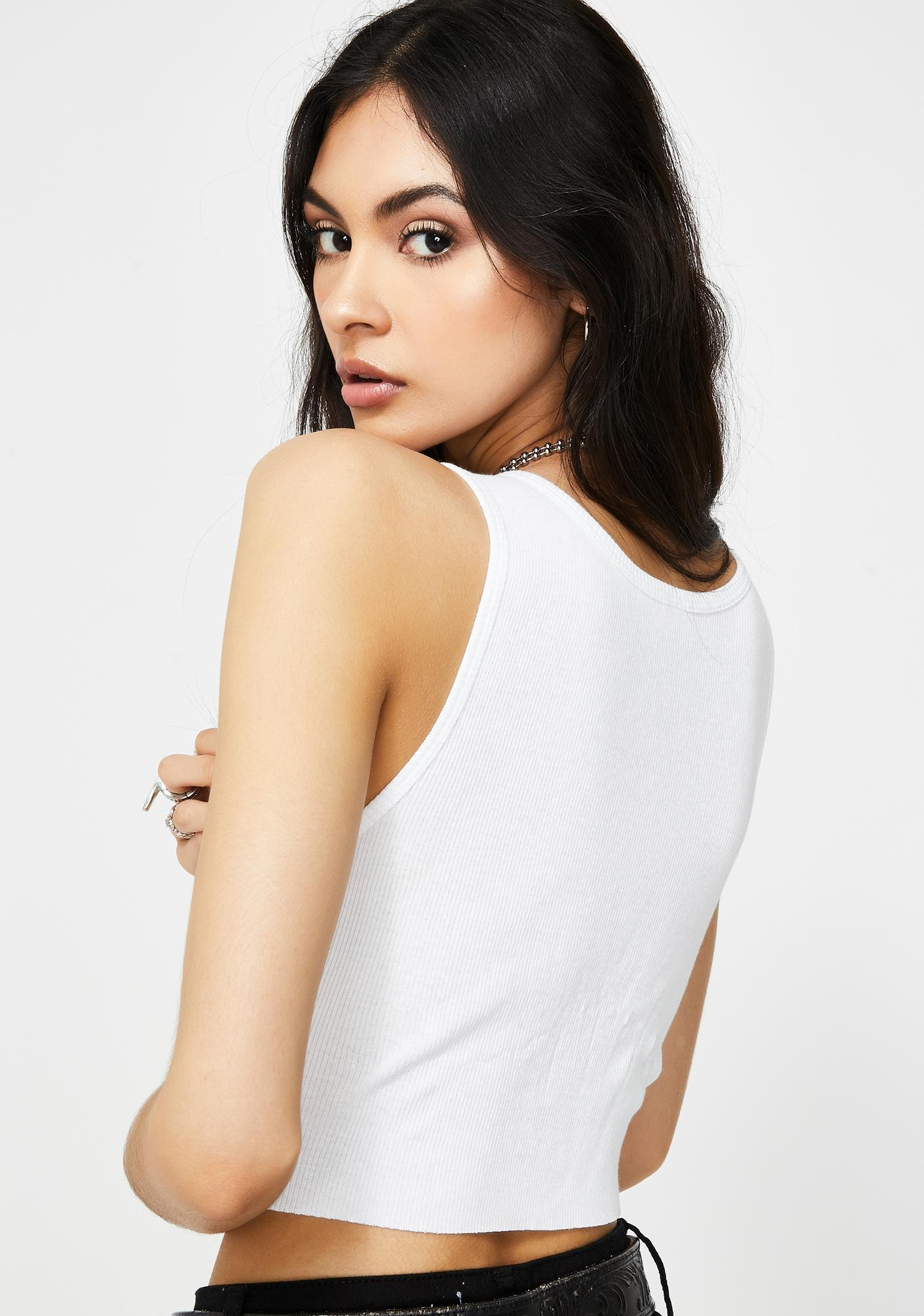 not another label Kinky Angel Graphic Crop Tank