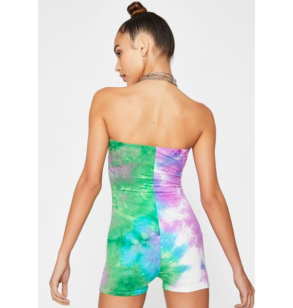 Not So Mellow Strapless Romper