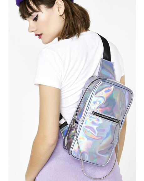 Hologram Chain Sling Bag